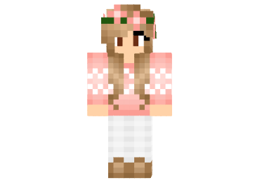 Download autumn fall girl skin for minecraft