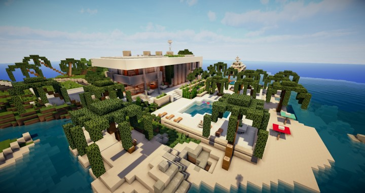 Beautiful modern house map for minecraft file for Minecraft modern house 9minecraft