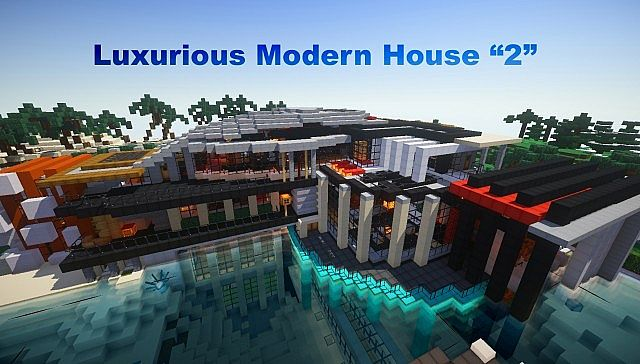 Minecraft Moderne Häuser luxurious modern house 2 map for minecraft file minecraft com