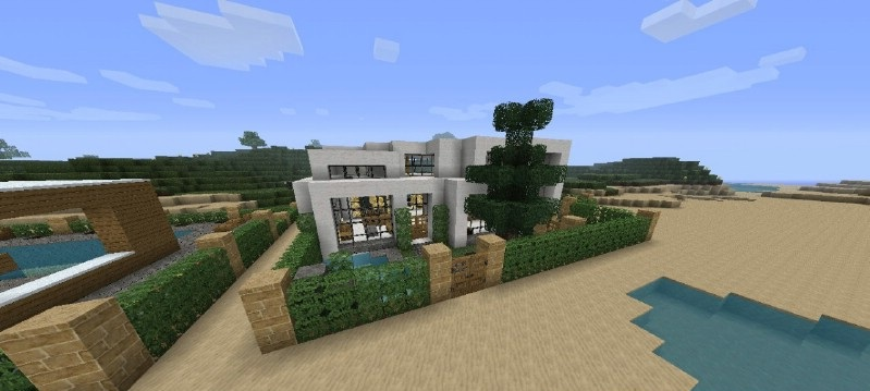 Minecraft maps 1 7 2 house images for Modern house map