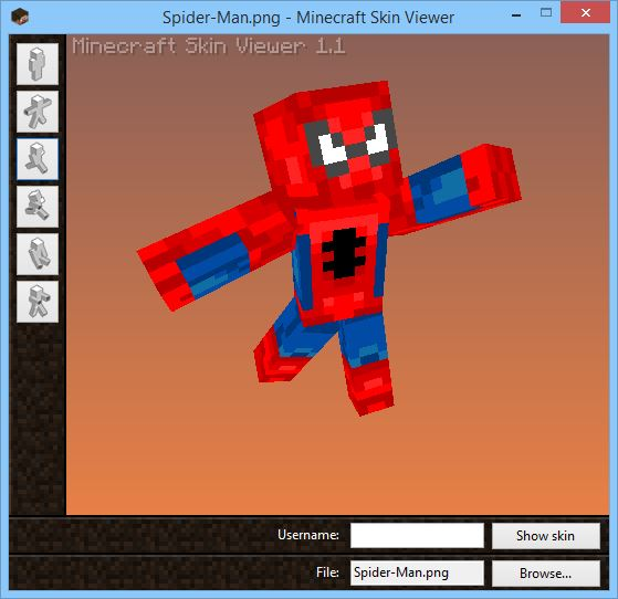 Minecraft Skin Viewer FileMinecraftcom - Skins para minecraft pe de spiderman