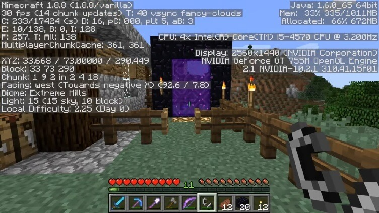 Nether Portal Fix Mod 1.11.2